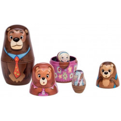 Guldlok og de 3 bjørne - Babushka dukker i tin