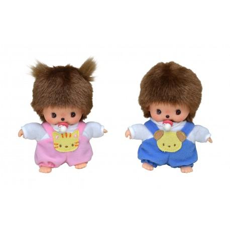 Monchhichi bamse - Baby med sparkedragt