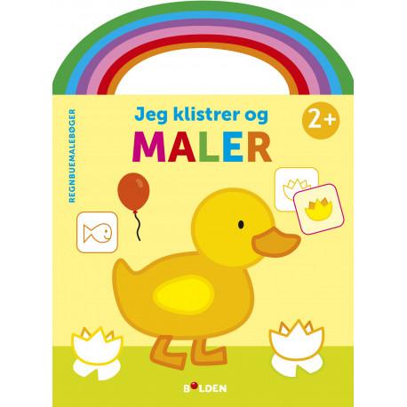 And: Jeg klistrer og maler - Malebog fra 2 år - Forlaget Bolden