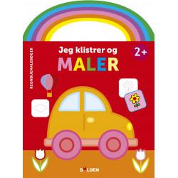 Bil: Jeg klistrer og maler - Malebog fra 2 år - Forlaget Bolden