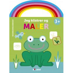 Frø: Jeg klistrer og maler - Malebog fra 3 år - Forlaget Bolden