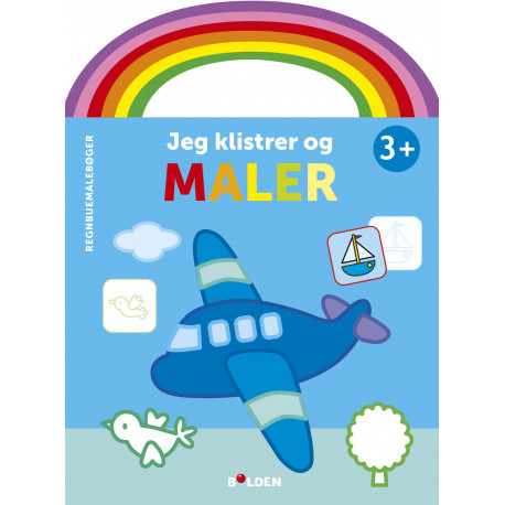 Fly: Jeg klistrer og maler - Malebog fra 3 år - Forlaget Bolden