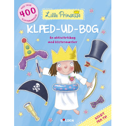 Den lille Prinsesse klæd-ud-bog - Aktivitetsbog med klistermærker - Forlaget Bolden