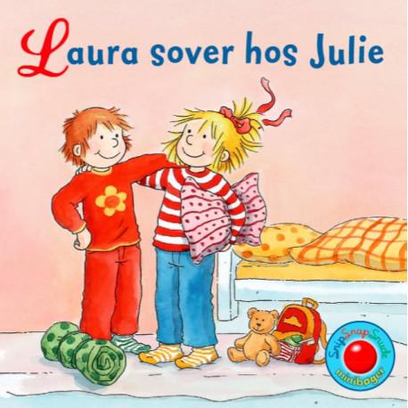 Laura sover hos Julie - Snip Snap Snude bog - Forlaget Bolden