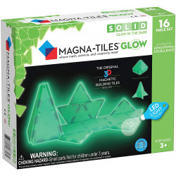 16 stk. Selvlysende byggemagneter med LED-lygte - Magna-Tiles
