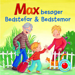 Max besøger Bedstefar & Bedstemor - Snip Snap Snude bog - Forlaget Bolden