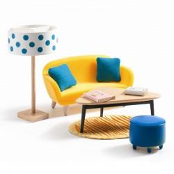 Djeco Petit Home - Dukkehusmøbler - Stuen