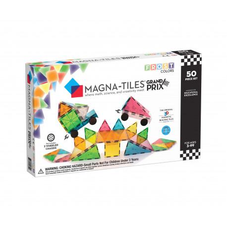 50 stk. byggemagneter i frostede farver - Magna-Tiles