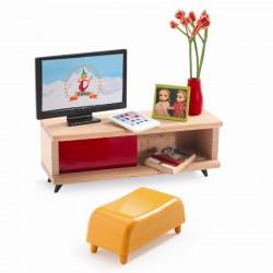Dukkehusmøbler - TV-stuen - Djeco Petit Home
