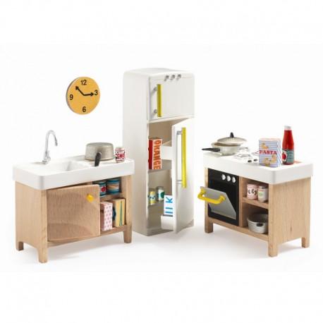 Djeco Petit Home - Dukkehusmøbler - Køkken