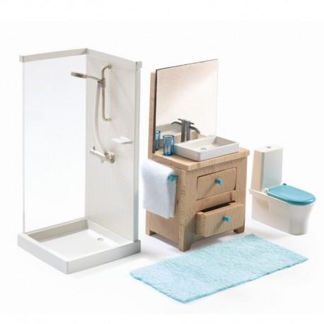 Badeværelse - Petit Home dukkehusmøbler - Djeco