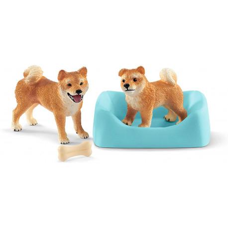 Shiba Inu hund, hvalp & tilbehør - Figurer - Schleich