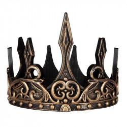 Guld & sort kongekrone - Fleksibel & justerbar - Great Pretenders
