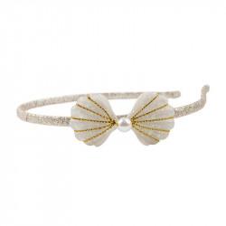 Gold Mermaid Seashell hårbøjle - Great Pretenders