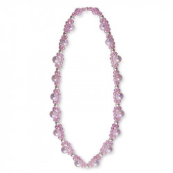 Flettet lyserød perlehalskæde - Great Pretenders