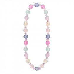 Halskæde med store perler i fine farver - Great Pretenders