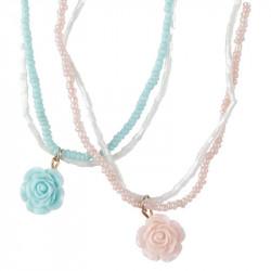 1 stk. Rose halskæde - Lyserød eller lyseblå - Great Pretenders