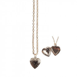 Hjerte medalon halskæde - Great Pretenders