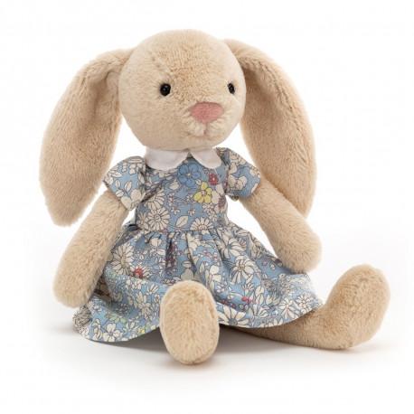 Lottie kanin med blomstret kjole - Bamse - Jellycat