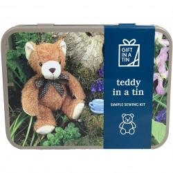 Lav din egen Teddy bjørn bamse - Sy sæt - Gift in a tin