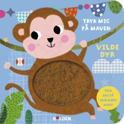 Vilde dyr - Tryk mig på maven papbog med lyd - Forlaget Bolden