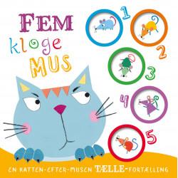Fem kloge mus - Lær at tælle papbog - Forlaget Bolden