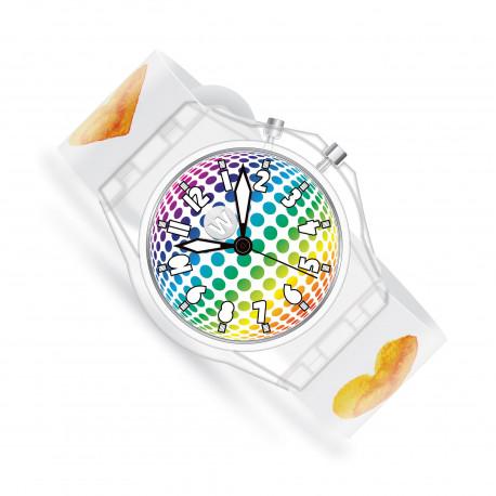 Watercolor Hearts - Glow børneur med lys - Watchitude