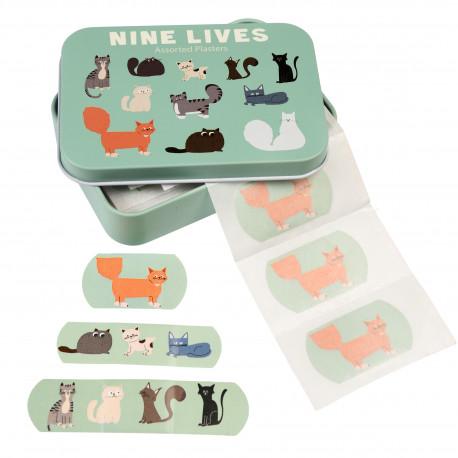 Søde katte - 30 plastre i metalæske - Rex London