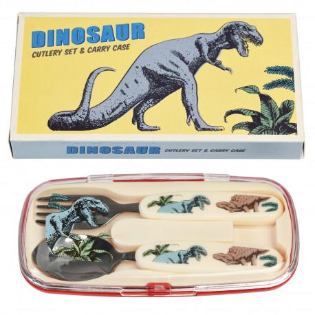 Dinosaurer børnebestik - Ske & gaffel i opbevaringsæske - Rex London
