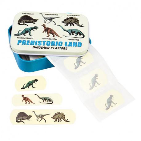 Dinosaurer - 30 plastre i metalæske - Rex London