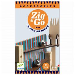 Zig & Go kuglebane tilbehør - Gaffel, 14 dele - Djeco