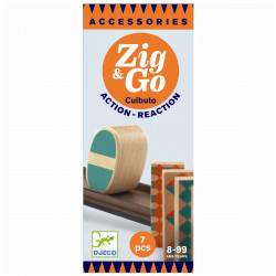 Zig & Go kuglebane tilbehør - Culbuto, 7 dele - Djeco