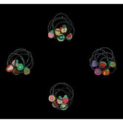 Søde frugter - 5 små hårelastikker - Minista