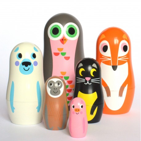 Animals 2 Babushka dukker - Studio Matryoshka