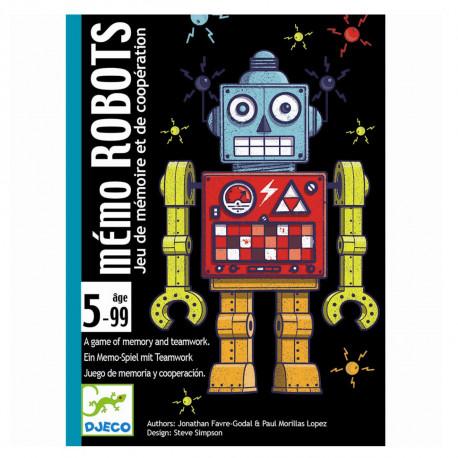 Memo Robots huskespil - Kortspil - Djeco