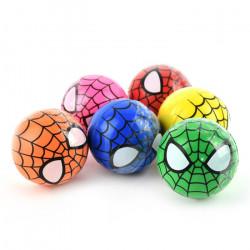 Stor spiderman hoppebold - 6 cm - Flere farver