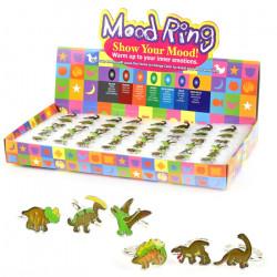 1 stk. Dinosaur børnering - Humørring der skifter farve - Ass. designs