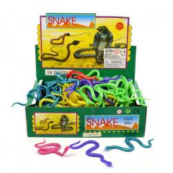1 stk. metallic stræk slange - 23 cm - Flere farver