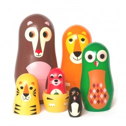 Animals 1 Babushka dukker - Studio Matryoshka