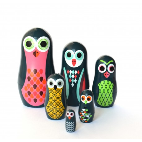 Studio Matryoshka dukker - Pocket Owls