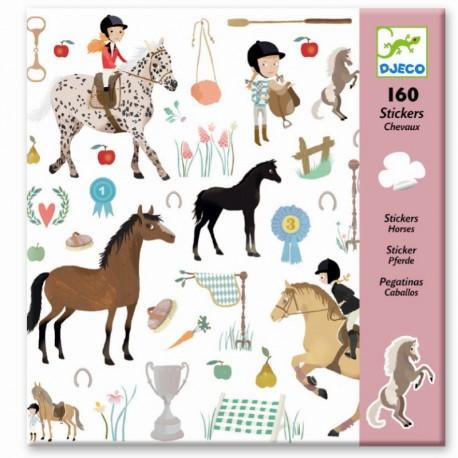 Djeco klistermærker - Heste