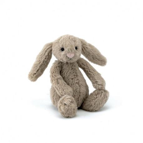 Beige kanin - Baby Bashful bamse - Jellycat
