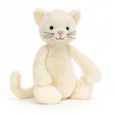 Hvid kat - Mellem Bashful bamse - Jellycat