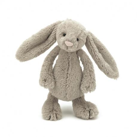 Beige kanin - Lille Bashful bamse - Jellycat