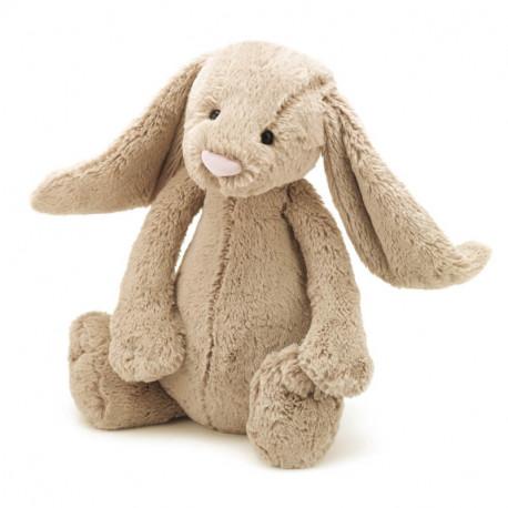 Beige kanin - Stor Bashful bamse - Jellycat