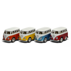 Metallic Volkswagen bus - Metalbil med træk-tilbage funktion
