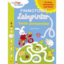 Finmotorik Labyrinter: første skriveøvelser - Aktivitetsbog - Forlaget Bolden
