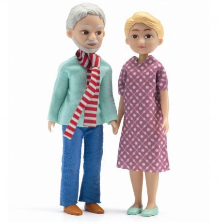 Bedsteforældre til dukkehus - Petit Home - Djeco