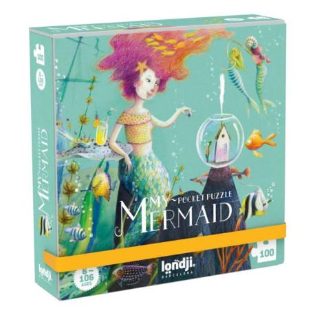 My Mermaid -  Rejse puslespil 100 brikker - Londji