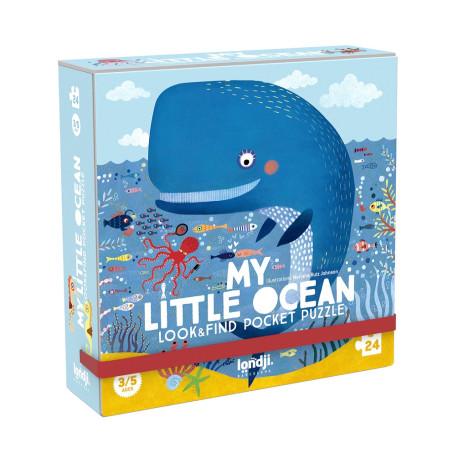 Ocean - Se & find puslespil med 16 findebrikker - 24 brikker - Londji